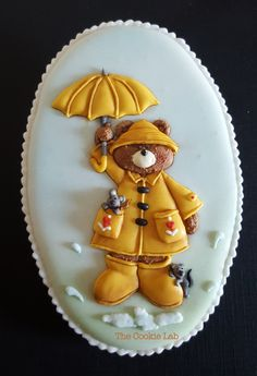 Friends are like Umbrellas on a rainy day. The Cookie Lab by Marta Torres