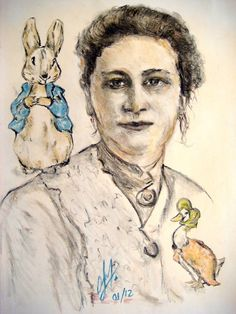 Olivia Waste painting of Beatrix Potter