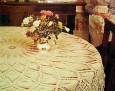 Vintage Crocheted Pineapple Tablecloth Pattern