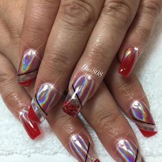 """13 Likes, 1 Comments - Bui808 Nails (@bui808_nails) on Instagram: """"red and chrome #kapolei #nailart #nails #nailstagram #naildesign #nailaddict #rednails #chrome…"""""""