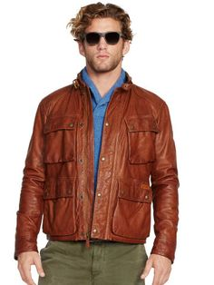 Leather Southbury Bike Jacket - Polo Ralph Lauren Leather & Suede - RalphLauren.com