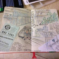Sacramento page from travel journal by mila_hofman