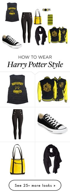 """""""Hufflepuff"""" by madison-nikole on Polyvore featuring Converse, Benetton, Casetify and Hufflepuff"""