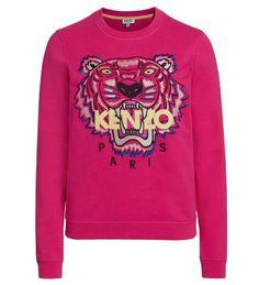 KENZO Kenzo Fuchsia Sweater With Tiger And Logo. #kenzo #cloth #fleeces-tracksuits