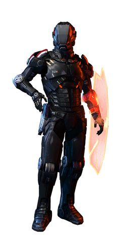 N7 Paladin (Sentinel) by ~rome123 on deviantART - sci-fi future soldier in battle armor and an energy shield