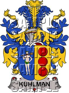 Kuhlman Family Crest apparel, Kuhlman Coat of Arms gifts