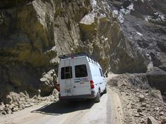 On the road through the Andes with SprinterLife couple Tree and Stevie in their Sprinter camper conversion.