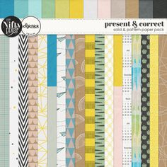 PRESENT & CORRECT | Paper Pack This bright and bold pack of papers include some fun 'back to school' or study themed motifs. Some of the designs include paper planes, protractors, pens and sweet apple treats for the teacher.  DOWNLOAD INCLUDES:  18X Pattern Papers 12X Solid and Textured Papers All products are saved at 300ppi for optimum printing quality.