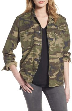 Loving this camouflage jacket! Click photo to shop affiliate link! Camo Print Jacket, Camouflage Jacket, Stylish Outfits, Fashion Outfits, Nordstrom Sale, Nordstrom Anniversary Sale, Fall Jackets, Celebrity Outfits, Jackets