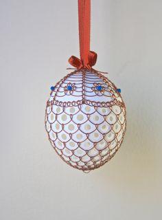 Handmade Wired and Beaded Easter Eggs by czechegg on Etsy https://www.etsy.com/listing/183571820/handmade-wired-and-beaded-easter-eggs