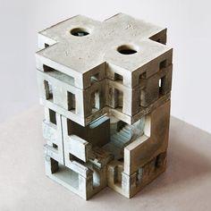 FOUNDATION / Variation iv / Modular concrete sculpture #architecture…