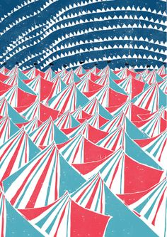 Circus Night A3 Size Print by ButterscotchBeesting on Etsy, £14.00