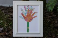 Handprint Collage Mother's Day Gift - http://giving.innerchildfun.com/2014/04/handprint-collage-mothers-day-gift.html #giving #gifts
