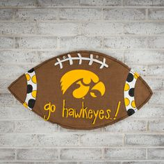 Go Hawkeyes Football Burlee is a winner for all University of Iowa fans! #GloryHaus #collegiate #decor