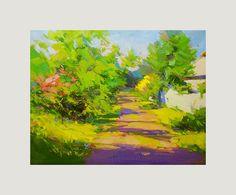 Summer Landscape Painting  Landscape Art  Nature Painting by Pysar