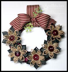 Wreath for cooler seasons #Spellbinders