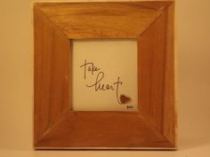 Take Heart - Original, hand lettered design featuring a brown sea glass heart $35.00 USD