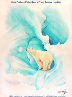 Let There Be Life: Polar Bears by yuumei on @DeviantArt