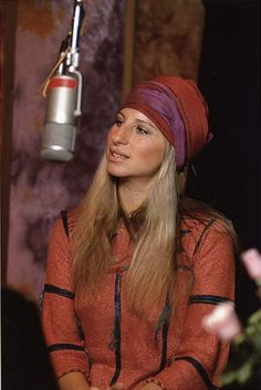 1975 Barbara Streisand....This is a BEAUTIFUL picture of Barbara.....the colors and outfit are exquisite !!!