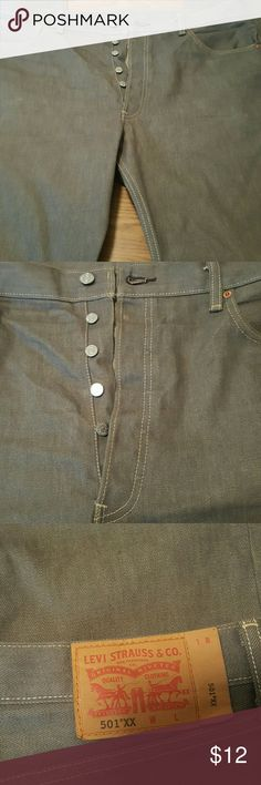 Men's Trendy Levi Button Fly Jeans 38/36 Men's Trendy Levi Button Fly Jeans Worn Once Levi's Jeans Straight