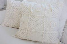 Crocheted cushion covers.