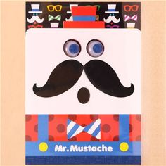 Mr. Mustache moustache face Memo Pad from Japan