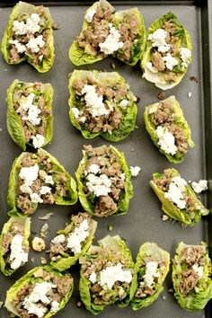 These Paleo Lettuce Wraps are stuffed with Sausage, brussel sprouts, and goat cheese. The perfect combination of flavors!