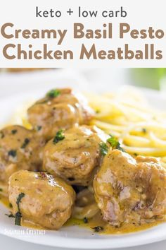 Making an easy ground chicken recipe is great on keto. I created this mouth watering meatballs recipe that's low carb and can easily be made in a skillet. But feel free to try it out baked or in your air fryer as well! Chicken Meatball Recipes, Ground Chicken Recipes, Chicken Meatballs, Keto Chicken, Ketogenic Recipes, Keto Recipes, Dinner Recipes, Dinner Ideas, Protein Recipes