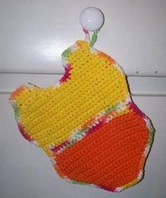 Summer Swimsuit Potholder/Dishcloth - free crochet pattern