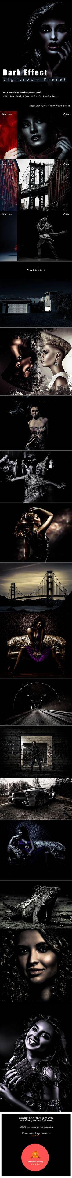 20 Dark Effect Lightroom Presets — LRTemplate #Retro Lightroom Presets #matte effect • Download ➝ https://graphicriver.net/item/20-dark-effect-lightroom-presets/19730085?ref=pxcr