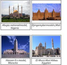 Byggnader i Afrika.Materialet innehåller 16 kort i 3 delar.Vill du ha materialet så maila mig. montessorimaterial@hotmail.com