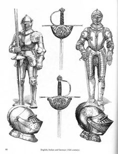 Ancient and Medieval Arms and Armor Armadura Medieval, Medieval Armor, Medieval Fantasy, Historical Tattoos, Maori Tribe, Inspiration Drawing, Knight Tattoo, History Tattoos, Weaving Machine