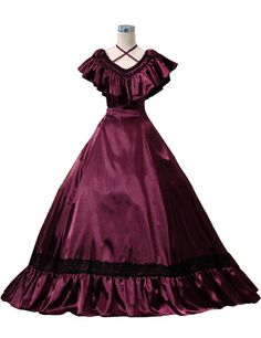 southern belle dresses | Ladies Victorian Edwardian Southern Belle Evening Gown - Complete ...