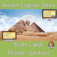 Ancient Egyptian Sphinx Revision Questions  This deck revises children's knowledge of Ancient Egyptian Sphinx. There are multiple choice revision questions to check children's understanding. These question cards are self-grading and lots of fun! Teaching History, Teaching Kids, All About Me Crafts, Role Play Areas, Multiple Choice, English Lessons, Teacher Resources, Lesson Plans, Egyptian