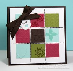 Oh my Christina! This is gorgeous!!! Love the colors and the layout - cute squares!
