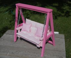 Doll Swing Set with Cushion & Throw Pillows by paynestdollboutique, $95.00