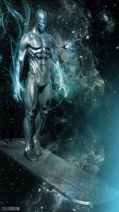 xombiedirge: The Silver Surfer by Tyler Breon - Living life one comic book at a time. - Visit to grab an amazing super hero shirt now on sale! Comic Movies, Comic Book Characters, Comic Book Heroes, Marvel Characters, Comic Books Art, Comic Art, Marvel Comics Art, Marvel Comic Universe, Comics Universe