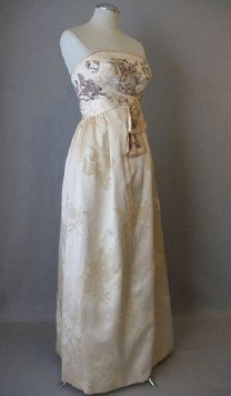 Vintage early 1960s beaded cream silk satin by BWWSGVintage