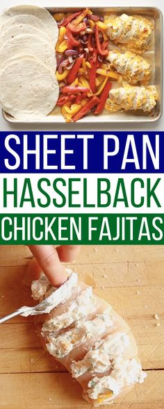 These Sheet Pan Chicken Fajitas Are Game-Changing These Sheet. - nutritionplans - These Sheet Pan Chicken Fajitas Are Game-Changing These Sheet Pan Chicken Fajita - Smoothies, Hasselback Chicken, Sandwiches, Sheet Pan Suppers, Dinners To Make, Easy Dinners, One Pan Meals, Meat Meals, Just Cooking