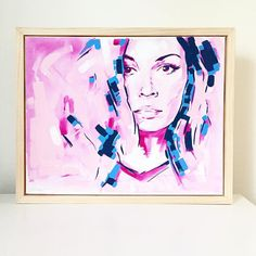 Lidia Original Acrylic Painting Framed Contemporary by lianakangas
