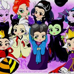 Chibi Disney villains.  Oh there we go XD  I want maleficent for my evil side and merriweather for good ;]