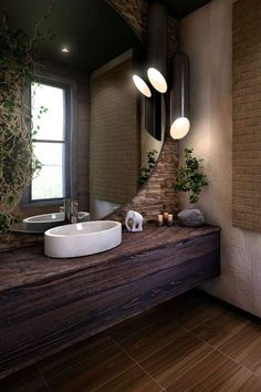 Bathroom Decorating – Home Decorating Ideas Kitchen and room Designs Modern Luxury Bathroom, Bathroom Design Luxury, Washroom Design, Vanity Design, Farmhouse Pendant Lighting, Concrete Bathroom, Best Bathroom Designs, Home Spa, Cool House Designs