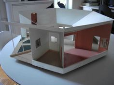 Mid Century Modern Dollhouse | Mid century Modern DollHouse handmade in 1967 by H. P. Mahon. $150.00 ...