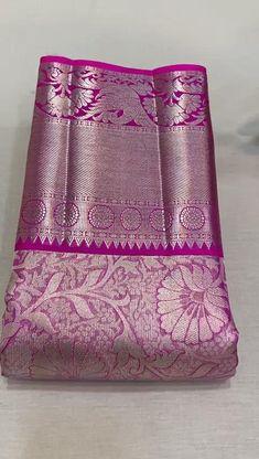 New Saree Designs, Silk Saree Blouse Designs, Saree Blouse Patterns, Designer Blouse Patterns, Bridal Sarees South Indian, South Silk Sarees, Wedding Silk Saree, Pattu Sarees Wedding, Kanjivaram Sarees Silk