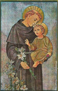 Oracion A San Antonio, Church Altar Decorations, Jesus Face, Jesus Pictures, Sacred Art, San Francisco, Saints, Religion, Blessed