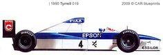 1990, Tyrrell 019 Ford V8 3.5L