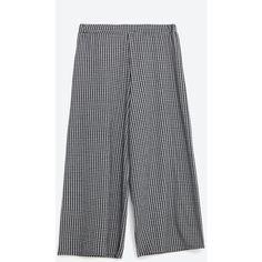 Zara Culottes (€23) via Polyvore featuring pants, capris, zara trousers y zara pants