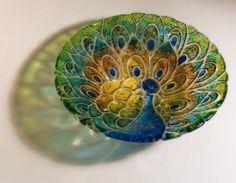 "Peacock Glass Fusing Round Texture Tile Kiln Mold 11"" | eBay"