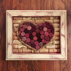 Wine cork heart