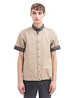 NEW SEASON - Kolor Mens High Tech Mesh Buttoned Shirt